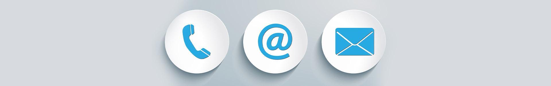 Ikony telefonu, maila i koperty